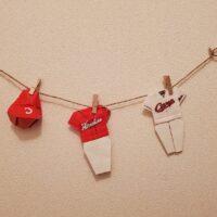 【折り紙アート】カープのユニフォームと帽子を折り紙で作る!